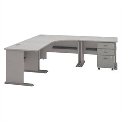 Series A Collection 84W x 84D Corner Workstation with 3Dwr File