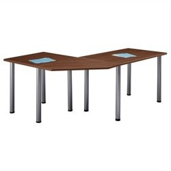 Bush BBF Aspen Office Table Set in Hansen Cherry