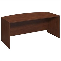 Bush BBF Series C Elite 72Wx36D Bow Front Desk Shell in Hansen Cherry