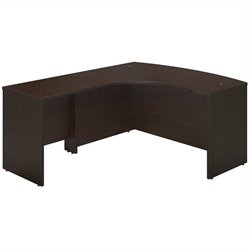 Series C Elite 60W Left Hand Bowfront Desk Shell with 30W Return