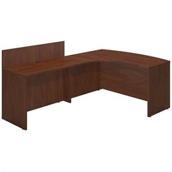 Series C Elite 60W x 43D Left Hand Bowfront Desk Shell with 48W Privacy Return
