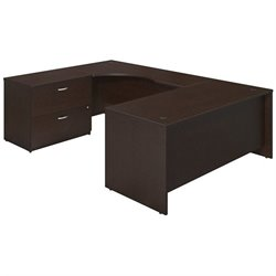 Series C Elite 72W x 30D Left Hand U Station Desk Shell with Lateral File