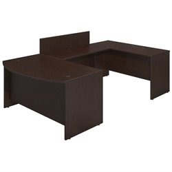 Series C Elite 60W x 36D Bowfront U Station Desk Shell with Privacy Bridge