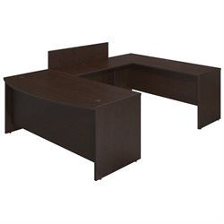 Series C Elite 72W x 36D Bowfront U Station Desk Shell with Privacy Bridge