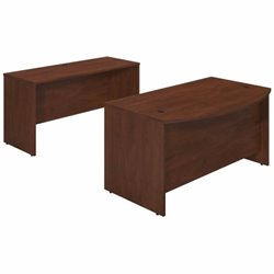 Series C Elite 60W x 36D Bowfront Desk Shell with Credenza