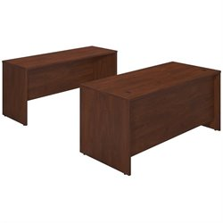 Series C Elite 66W x 30D Desk Shell with Credenza