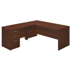 Series C Elite 66W x 30D L Desk with 3 Drawer Pedestal