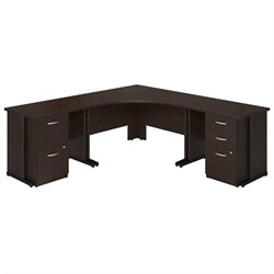 Series C Elite 48W x 48D Corner Desk with 36W Desks and 2 and 3 Drawer Pedestals