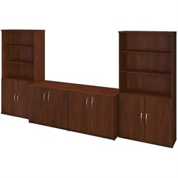36W Storage Cabinets with Bookcases