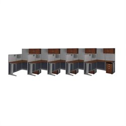 Bush Business Furniture Office-in-an-Hour Hansen Cherry Cubicles for 5