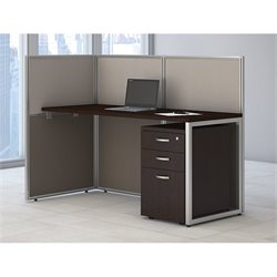 Bush Business Furniture Easy Office Computer Desk in Mocha Cherry