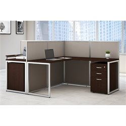 Bush Business Furniture Easy Office L Shaped Computer Desk for 2