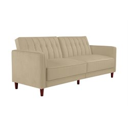 DHP Pin Velvet Convertible Sleeper Sofa-LL