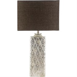 Surya Avison Glass Table Lamp in Beige