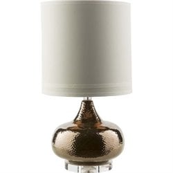 Surya Carmichael Ceramic Table Lamp in Beige
