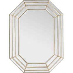 Surya Gordon Wall Mirror in Champagne