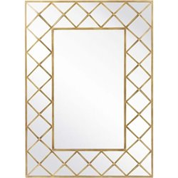 Surya Wall Mirror in Aged Gold