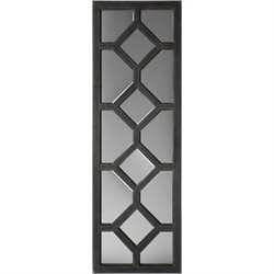 Surya Wall Mirror in Stone Black