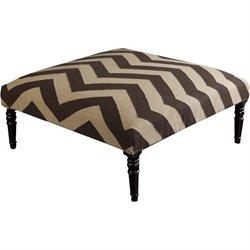 Surya Wool Square Ottoman in Brown
