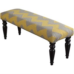 Wool Nailhead Bench