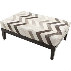 Surya Trail Hide Bench in Gray