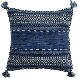 Trenza Poly Fill Square Pillow in Blue