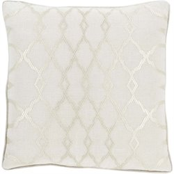 Lydia Poly Fill Square Pillow in Ivory (A)
