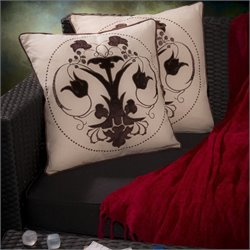Trent Home Revere Embroidered Pillows (Set of 2)