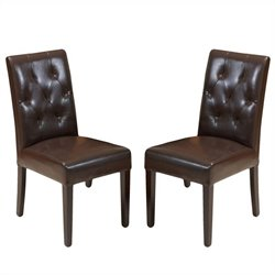 Trent Home Rockwell Dining Chair in Brown (Set of 2)