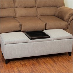 Trent Home Hank Ottoman in Chamois