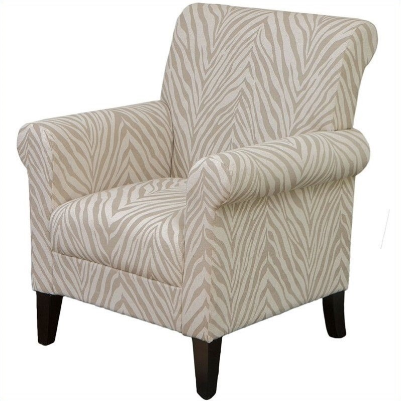 Trent Home Frederick Fabric Club Arm Chair In Beige Animal