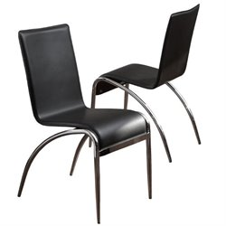 Trent Home Kendall Modern Dining Chair in Black (Set of 2)