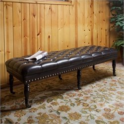 Trent Home Spencer Ottoman Bench in Brown