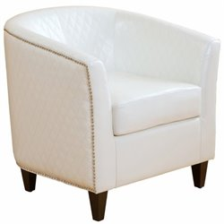Trent Home Princess Club Barrel Chair in Ivory
