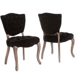 Trent Home Chandler Dining Chairs in Black (Set of 2)