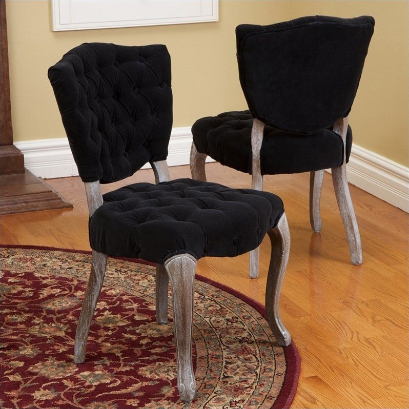 Room Store Chandler: Trent Home Chandler Dining Chairs In Black (Set Of 2