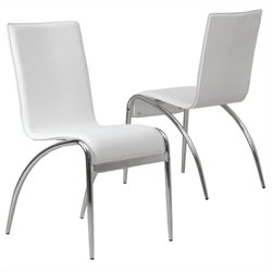 Trent Home Kendall Modern Dining Chair in White (Set of 2)