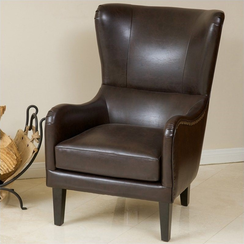 Trent Home Columbus Leather Club Chair In Brown 576922cy
