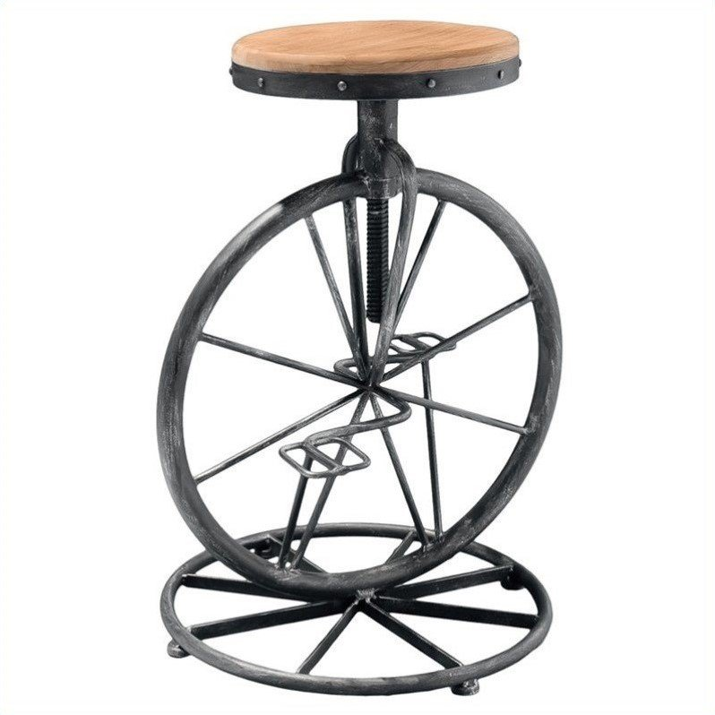 Trent Home 26 Quot Davide Bicycle Wheel Adjustable Bar Stool