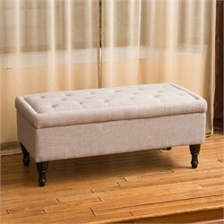 Trent Home Jasmine Storage Ottoman in Mixed Grey
