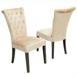 Trent Home Vatican Dining Chair in Champagne (Set of 2)