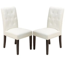 Trent Home Rockwell Dining Chair in Ivory (Set of 2)