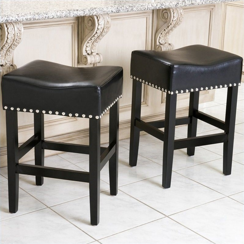 Trent Home 26 Quot Counter Stool In Black Set Of 2 945832cy