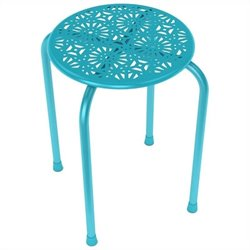 Daisy Side Metal End Table in Capri Breeze (Set of 2)
