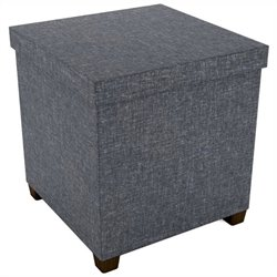 Storage Ottoman in Dark Gray