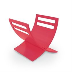 Bentwood Magazine Cradle in Red