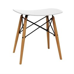 Saddle Stool in White