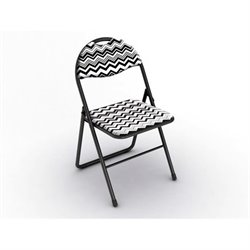 Classic Folding Chair in Chevron Black