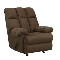 Massage Rocker Recliner in Chocolate