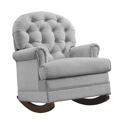 Brielle Tufted Rocker in Gray